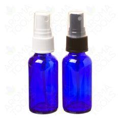 1 oz. Blue Glass Bottles with Misting Spray Tops (pkg. of 6) $5.10