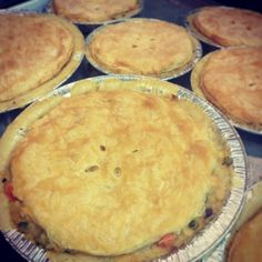 Homemade pot pies from Rosemary's Kitchen