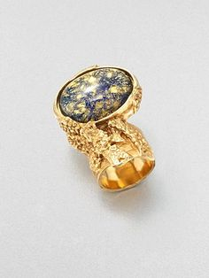 Yves Saint Laurent - Arty Ovale Ring/Bright Goldtone - Saks.com