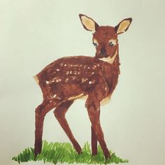 Haven't drawn in awhile! But felt like it today! #drawing #babyfawn #art #artist #l4l #natureart #animallover # by okatiajesusfreak