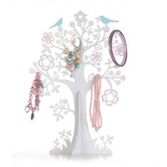 Jewellery Display tree with Blue Birds. Would suit any girly room!