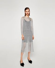 Image 1 of LONG MESH DRESS from Zara