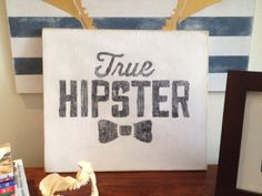 Wood panel True Hipster wall art 14x16 on Etsy, $18.00