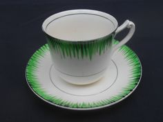 T.G. Green Tea Cup and Saucer (alternative shape and handle)