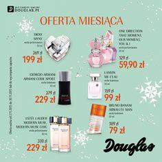 Oferta Miesiąca w perfumeriach Douglas – Listopad 2015  W perfumeriach Douglas pojawiła się wyjątkowa, listopadowa Oferta Miesiąca. Kosmetyki i zapachy najlepszych marek w atrakcyjnych cenach są dostępne przez cały miesiąc w perfumeriach Douglas oraz na www.douglas.pl.