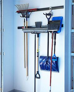 Does your home need some storage TLC? You may be missing one of these storage staples to help organize your stuff and clear the clutter. Garage Tool Organization, Organization Station, Organisation Hacks, Organising Tips, Hanging Racks, Kids House, Getting Organized, Decorating Tips, Must Haves