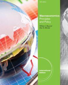 Macroeconomics Principles And Policy 13th Edition Pdf