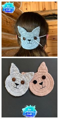 Crochet Mask, Crochet Faces, Free Crochet, Easy Crochet Socks, Yarn Projects, Crochet Projects, Sewing Projects, Diy Mask, Diy Face Mask
