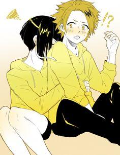 Boku no Hero Academia    Kyouka Jirou, Kaminari Denki.