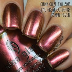 """""""Cabin Fever"""" from China Glaze The Great Outdoors collection Autumn 2015 ALL colors swatched at: http://www.twi-star.com/2015/07/china-glaze-great-outdoors-fall-2015.html"""