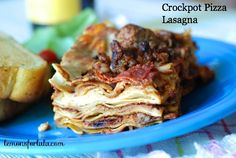 Crockpot Pizza Lasagna