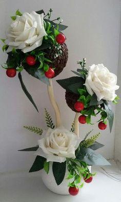 New Crepe Paper Tree Tutorials Ideas Flower Crafts, Diy Flowers, Fabric Flowers, Beautiful Flower Arrangements, Floral Arrangements, Beautiful Flowers, Cup Crafts, Diy And Crafts, Deco Floral
