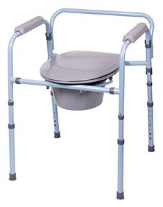 The Deluxe Folding Commode is perfect for those who have limited space. This full-size steel commode folds compactly for easy travel or storage and comes complete with a commode bucket, cover and splash guard. It also includes a free clip-on Toilet Paper Holder and trial pack of our Commode... more details at https://www.occupationalhealthandsafetyprofessionals.com/medical-supplies-equipment/mobility-daily-living-aids/bathroom-safety-aids-accessories/commodes-liners/bedside-c