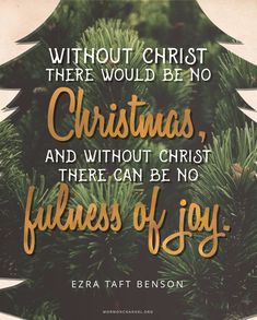 We have Christmas because of Christ. We have joy because of Christ. Lds Quotes, Daily Quotes, Inspirational Quotes, Sunday Quotes, Qoutes, Gospel Quotes, Biblical Quotes, Motivational Quotes, Christmas Messages