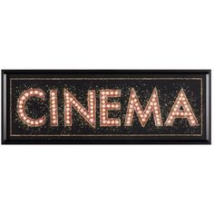 Cinema Marquee Canvas Art - James Wiens x Art Nouveau Disney, Art Deco Typography, Black Framed Wall Art, Wall Art Quotes, Quote Wall, Cool Art Projects, Frame Wall Decor, Contemporary Paintings, Decoration