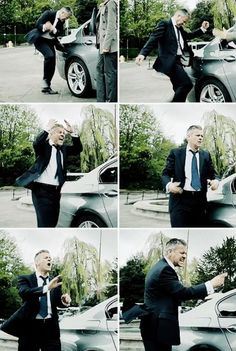 Greg Lestrade stressing because he doesn't have Sherlock to consult. He's like his secret weapon and unlike the other cops, he knows his worth and he trusts and needs him. Oh, I'm so glad hat he wasn't really dead for so many reasons of course and one of those reasons is for Lestrade's sake; for his sanity and happiness ☺