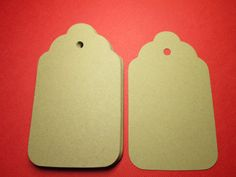 50 Kraft Brown Scalloped Paper Tags 3 by prettypapersprinkles, $5.50