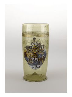 Humpen en verre armorié - Musée national de la Renaissance (Ecouen)