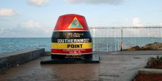 FLORIDA: If you're visiting Key West, the southernmost point buoy is a must-see. This massive buoy marks the southernmost point in the continental United States and is only 90 miles from Cuba.