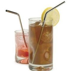 Great to have for the kids and I can use them over and over...no more straws in my trash/recycle pile!  Tired of being so wasteful! Endurance Stainless Steel Drink Bent Straws (Set of 4) by RSVP 10