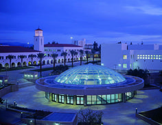 Such a different place than when I went there!! Beautiful still - SDSU Library at Night