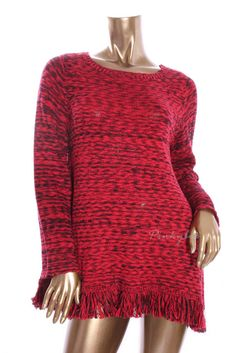 AMERICAN LIVING Womens New Red Marled Turtleneck Long Sleeve Cable Sweater  S #AmericanLiving #TurtleneckMock