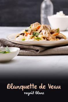 La blanquette se drape de blanc. Parce que nous renonçons aux arômes grillés pour une fois. Rien n'est rôti, mais seulement cuit gentiment dans une cocotte. À la fin, nous transformons le jus de cuisson en une sauce blanche crémeuse. Rind, Juice, White Sauce, Veal Stew, Dutch Oven, Recipes, Lamb, Browning, Easy Meals