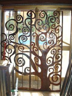 Cancello in ferro lavorazione albero Fence, Gate, Metal, Creative, British, Design, Home Decor, Garden Entrance, Houses