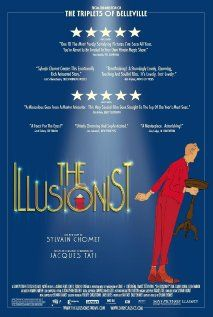 "Movie: The Illusionist, from the director of Triplets of Belleville. Watched this last night...loved. Animated / French film. ""A French illusionist finds himself out of work and travels to Scotland, where he meets a young woman. Their ensuing adventure changes both their lives forever. Director: Sylvain Chomet"""