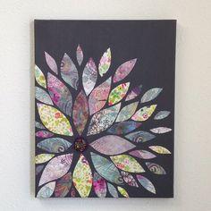 New painting canvas ideas flowers scrapbook paper 48 Ideas Scrapbook Paper Canvas, Scrapbook Wall Art, Scrapbook Paper Flowers, Canvas Paper, Diy Canvas, Scrapbook Paper Crafts, Canvas Ideas, 3d Canvas Art, Flower Canvas Art