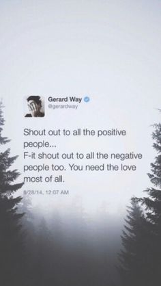 Lock Screen - Gerard Way Tweets