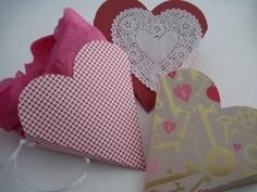 Heart shaped gift box craft