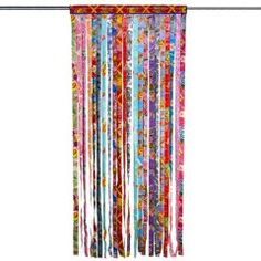 Mexican kitsch kitchen door curtain - Oklahoma When it reaches to living space design tips, Beaded Door Curtains, Doorway Curtain, Crochet Curtains, Floral Curtains, Diy Curtains, Kitchen Curtains, Hippie Curtains, Kitsch, Oklahoma
