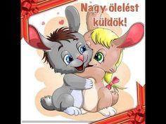 Születésnapi köszöntő gyereknek. - YouTube Valentines Day Clipart, Funny Cartoon Pictures, Betty Boop Pictures, Art Template, Templates, Love Hug, Pet Rocks, Happy Thursday, Rabbits