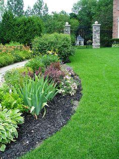 simple backyard landscaping - Google Search