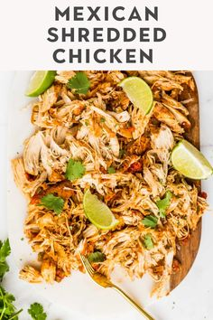 This slow cooker shredded Mexican chicken is easy to make and full of flavor! Just dump the ingredients in the crockpot or instant pot, and make tender juicy chicken for tacos, burritos, or salads. Crockpot Shredded Chicken Tacos, Mexican Chicken Tacos, Slow Cooker Mexican Chicken, Mexican Shredded Chicken, Mexican Chicken Recipes, Crock Pot Tacos, Shredded Chicken Recipes, Easy Chicken Tacos, Tacos Crockpot