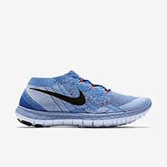 Women's Nike Free 3.0 Flyknit Racer Running Shoes (6, Racer Blue/Black-University Blue) ** Learn more by visiting the image link. (This is an affiliate link) #NikeShoes