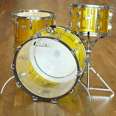 Ludwig Vistalite 13/16/22 3pc Kit Yellow 70s