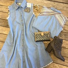 """""""New arrivals coming in daily!  #Denim #tunic #dress $39.99 (S-L)  #Consuela #wallet $135.99 #FreePeople #booties $198 (6, 6.5, 7.5, 8.5, 9.5)  #PinkPanache #earrings $24.99 Pink Panache #bracelet $28.99  We #ship! Call to order! 903.322.4316 #shopdcs #goshopdcs #shoplocal #love"""" Photo taken by @daviscountrystore on Instagram, pinned via the InstaPin iOS App! http://www.instapinapp.com (01/18/2016)"""