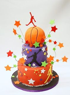 basketball birthday cake@Briana Ernst, you would love this!!