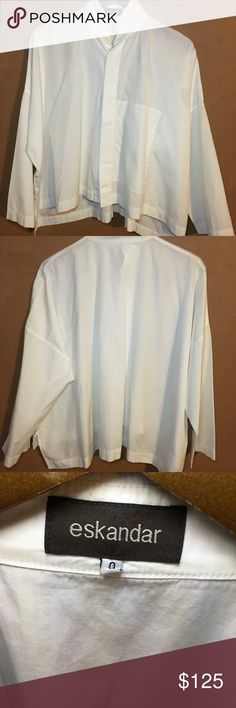a35b100bff1b12 Eskandar Italian handkerchief white shirt size 0 Pre-owned in excellent  condition. Very sophisticated