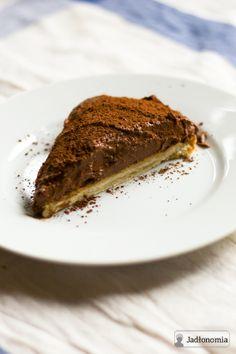 Wegańska czekoladowa tarta.