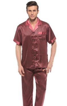 Paisley Flower Print Open Collar One Pocket Silk Pajamas #casasilk #man #pajamas http://www.casasilk.com/Deluxe/Silk-Mens-c1-103981/ click here http://www.casasilk.com/product/10912849.html