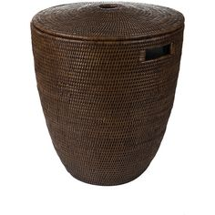 Baolgi Laundry Basket - Teak ($360) ❤ liked on Polyvore featuring home, home decor, small item storage, brown, colored baskets, lidded basket, woven basket, colored woven baskets and weave basket
