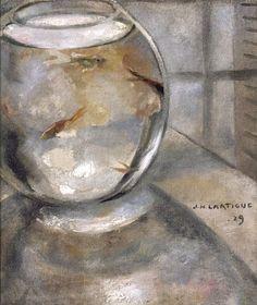 Jacques Henri Lartigue (French, 1894-1986), Aquarium, 1929. Oil on canvas//