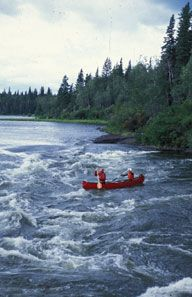 Canoeing the Churchill River in Saskatchewan. #MeetTheMoment