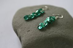 Fun Turquoise Sequin Dangle Earrings