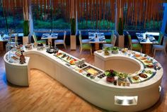 event room decor | Trendy and Fresh-Looking Dining Room Decoration of Westin Hotel ...