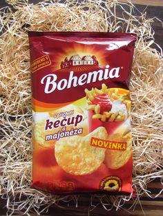 Nové chipsy Bohemia s příchutí kečup a majonéza