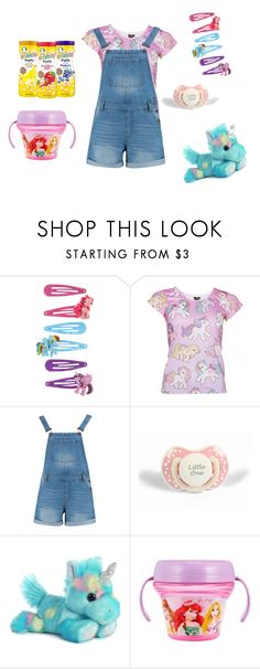 """""""Playful Baby Girl"""" by vengeful-one ❤ liked on Polyvore featuring My Little Pony, Boohoo, Gerber, BabyGirl, ddlg and abdl"""